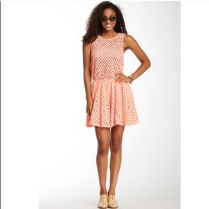 Ella Moss Tessa Eyelet Sleeveless Mini Dress